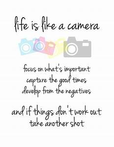 Life is Like a Camera - Word Art Print - photography quote ...