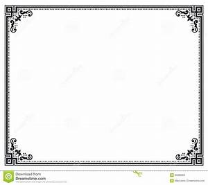 home design certificate border letter sized stock images With letter frame design