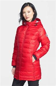 Lyst Canada Goose 39camp39 Slim Fit Hooded Packable Down Jacket Red In Red