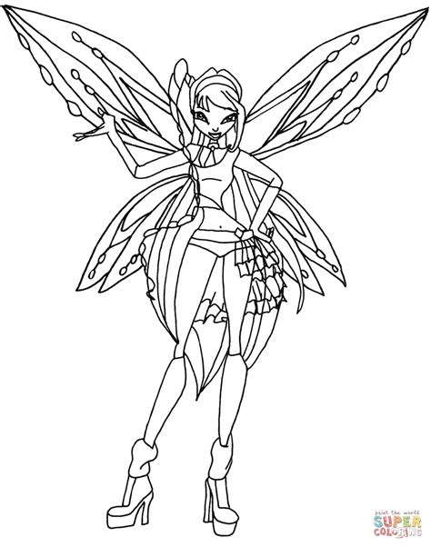 winx da colorare musa zoomix musa coloring page free printable coloring pages