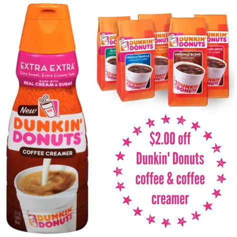 Take your morning up a notch with the extra creamy, extra delicious taste of dunkin' donuts coffee creamer. $2.00 off Dunkin' Donuts coffee & coffee creamer Coupon | Coffee creamer, Dunkin donuts coffee ...