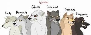 Game of thrones. Direwolves by LadyCat2000 on DeviantArt