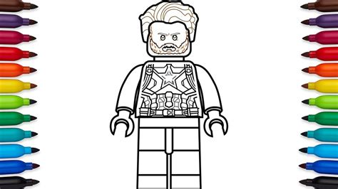 how to draw lego captain america steve rogers from