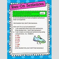Rockin Resources Writing Mini Lesson #4 Runon Sentences