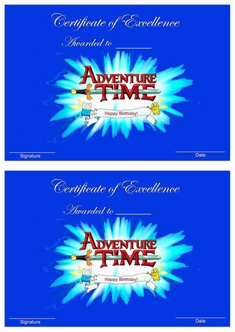 adventure time awards birthday printable