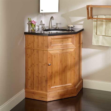 bridgemill corner bamboo vanity  undermount sink