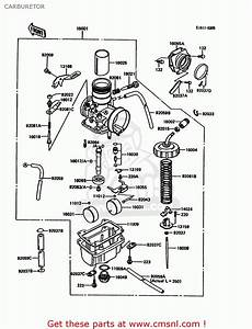 Kawasaki Kdx200-c2 1987 United Kingdom Al Carburetor