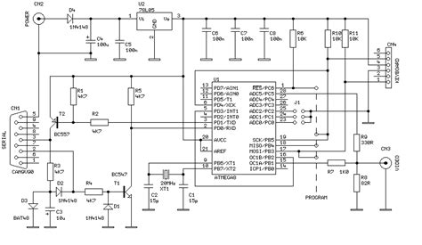 Cer Converter Wiring Diagram by Best Small Tv Terminal Avr Project