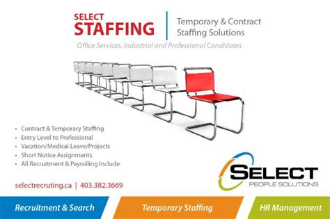 select staffing phone number select solutions opening hours 236 200 4 ave s
