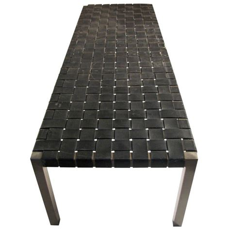 Browse furniture, lighting, bedding, rugs, drapery and décor. Ralph Lauren Woven Leather Bench or Cocktail Table at 1stdibs