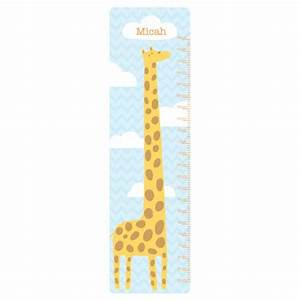 Giraffe Hight Chart Wall Art For Kids Rooms
