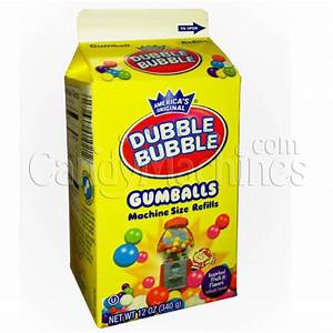 Buy Dubble Bubble Gumball Refill - 12 oz Carton - Vending ...