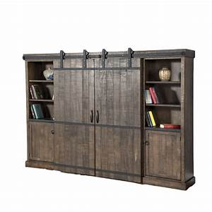 barn door wall cabinet tobacco leaf home envy With barn door tv wall cabinet
