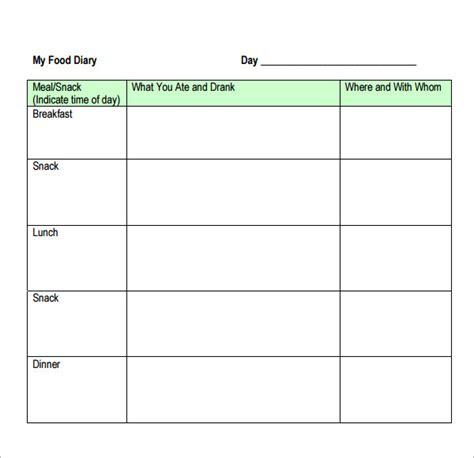 15 Sample Printable Food Log Templates To Download