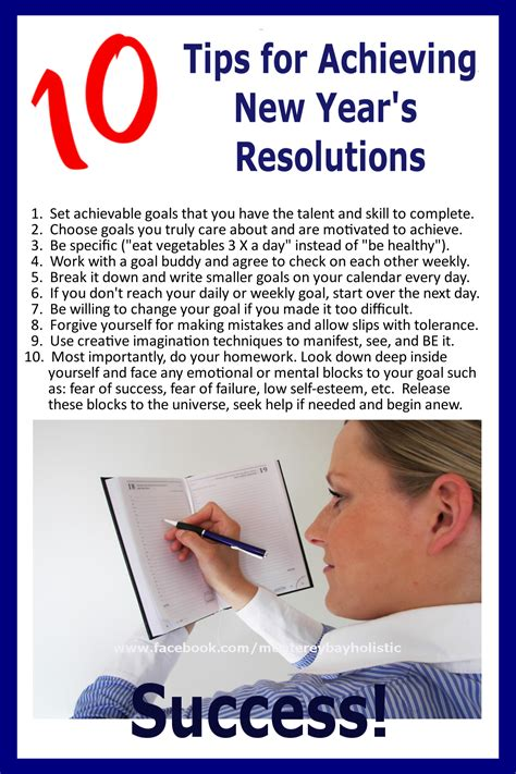 10 Tips For Keeping New Year's Resolutions  Monterey Bay