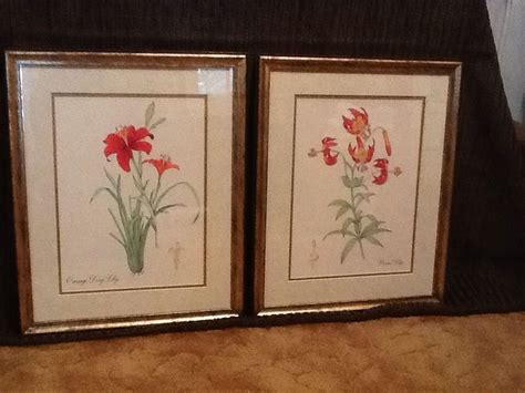 home interior framed pair of tiger framed prints vintage home