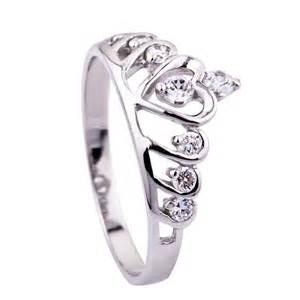 crown wedding rings 925 sterling silver cz tiara crown princess wedding ring size 3 9 5 r812 what 39 s it worth
