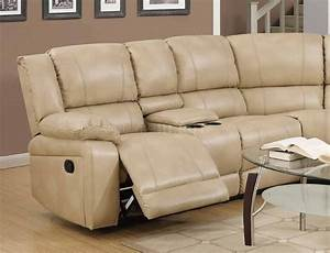 8303 reclining sectional sofa in cream bonded leather w for Sectional sofa options