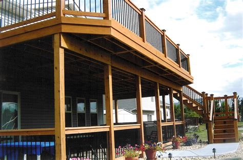 Two Story Deck Ideas by Duke Construction Residential Work