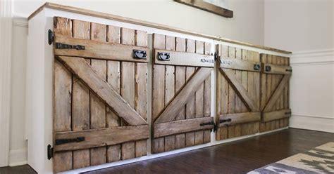 upcycled barnwood style cabinet hometalk