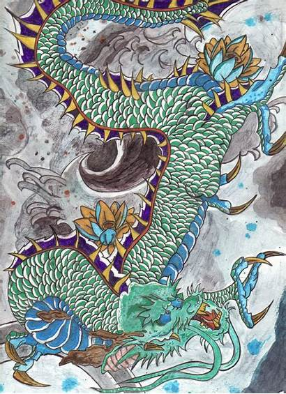 Japanese Dragon Traditional Ancient Japan Tattoos Wallpapers