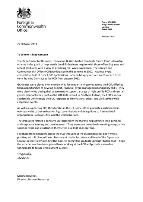 End of placement reference letter template - with Menna