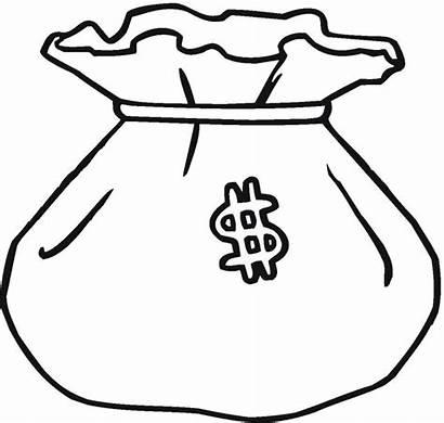 Money Clipart Bag Clip Coloring Clipartion Cliparts