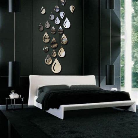 d馗o mur chambre tempsa 3d sticker goutte d 39 eau miroir mur chambre bureau décoration noir achat vente stickers cdiscount