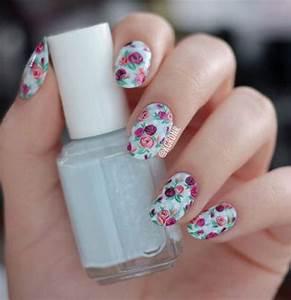 15 Vintage Floral Nail Art Designs & Ideas 2017 | Spring ...