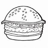 Burger Pages Coloring Cheeseburger Printable Hamburger Sheet Template Fries King Getcolorings Templates sketch template