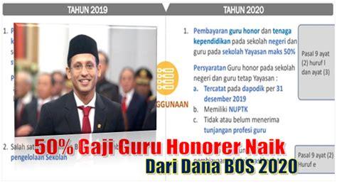 600 ribu selama 4 bulan. Gaji Guru Honorer Negeri dan Swasta Naik 50% dari Dana BOS ...