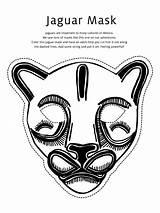 Mask Jaguar Coloring Masks Mayan Pages Animal Face Templates Gras Mardi Template Printable Coloringsky Craft Crafts Cool Things Maya Ks2 sketch template