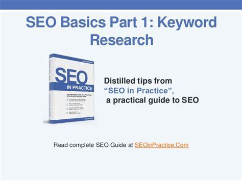 Seo Fundamentals Guide - seo basics part 1 keyword research