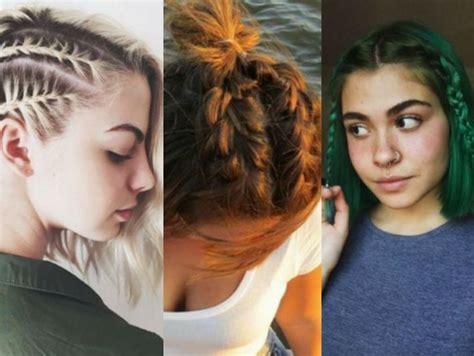 Peinados con trenzas para cabello corto que podrás hacerte
