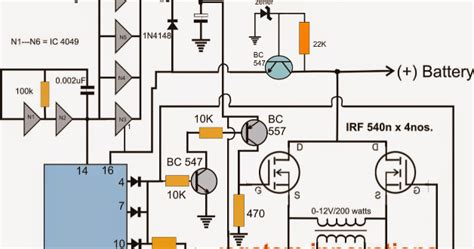 h bridge inverter circuit using 4 n channel mosfets modified sine wave