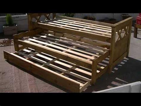 oammuebles cama nido triple lustrado tipo campo petiribi youtube