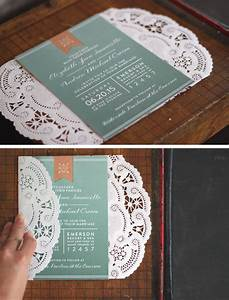 oh what love diy a lace doily wedding invitation sleeve With wedding invitations with lace doilies