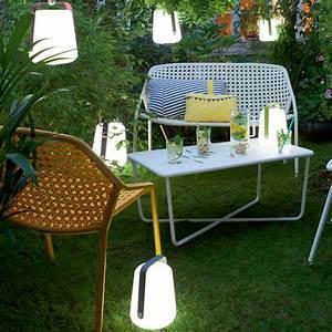 balad akku led leuchte h 25 cm von fermob With französischer balkon mit outdoor lampen garten