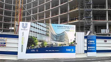 siege social translation unilever construction nouveau siège social