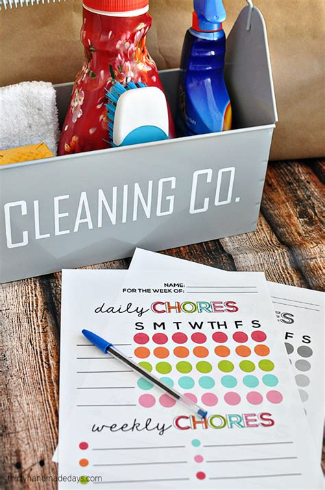 chore charts  kids  printables included
