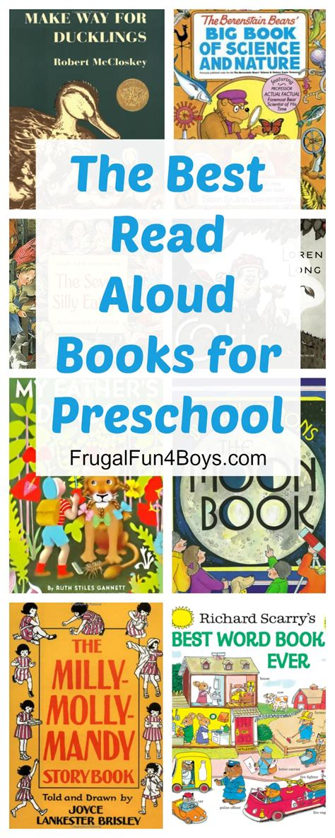 favorite read aloud books for preschoolers 199 | Preschool Books Pin
