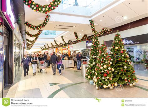 christmas shopping editorial stock photo image