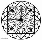 Kaleidoscope Coloring Pages Printable Easy Cool2bkids Colouring Pattern Mandala sketch template