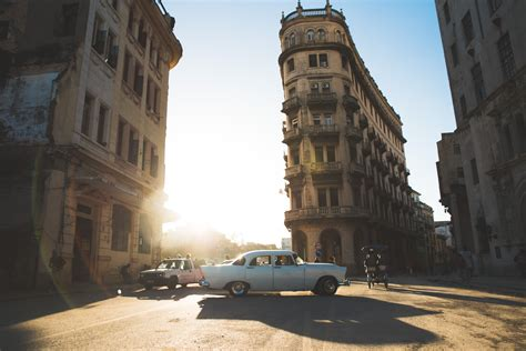 cars parked  buildings  daytime  stock photo