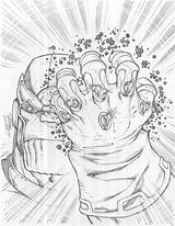 Infinity Gauntlet Coloring Pages Galactus Template Sketch sketch template