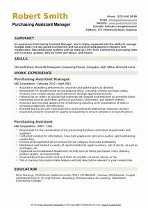 Office Supply Inventory Purchasing Assistant Resume Samples Qwikresume