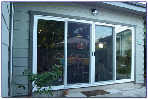 4 panel sliding glass patio doors patios home