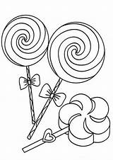 Candy Coloring Pages Easy Pop Tulamama sketch template