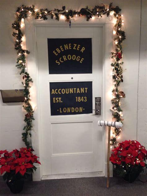 scrooge  christmas carol door decorations christmas