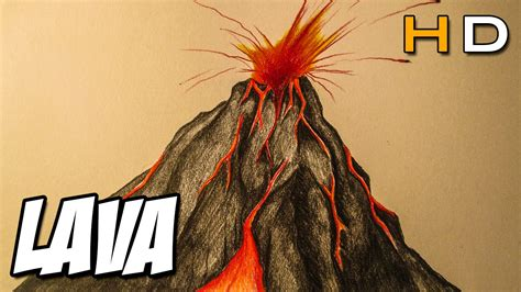 Erupting Volcano Drawing